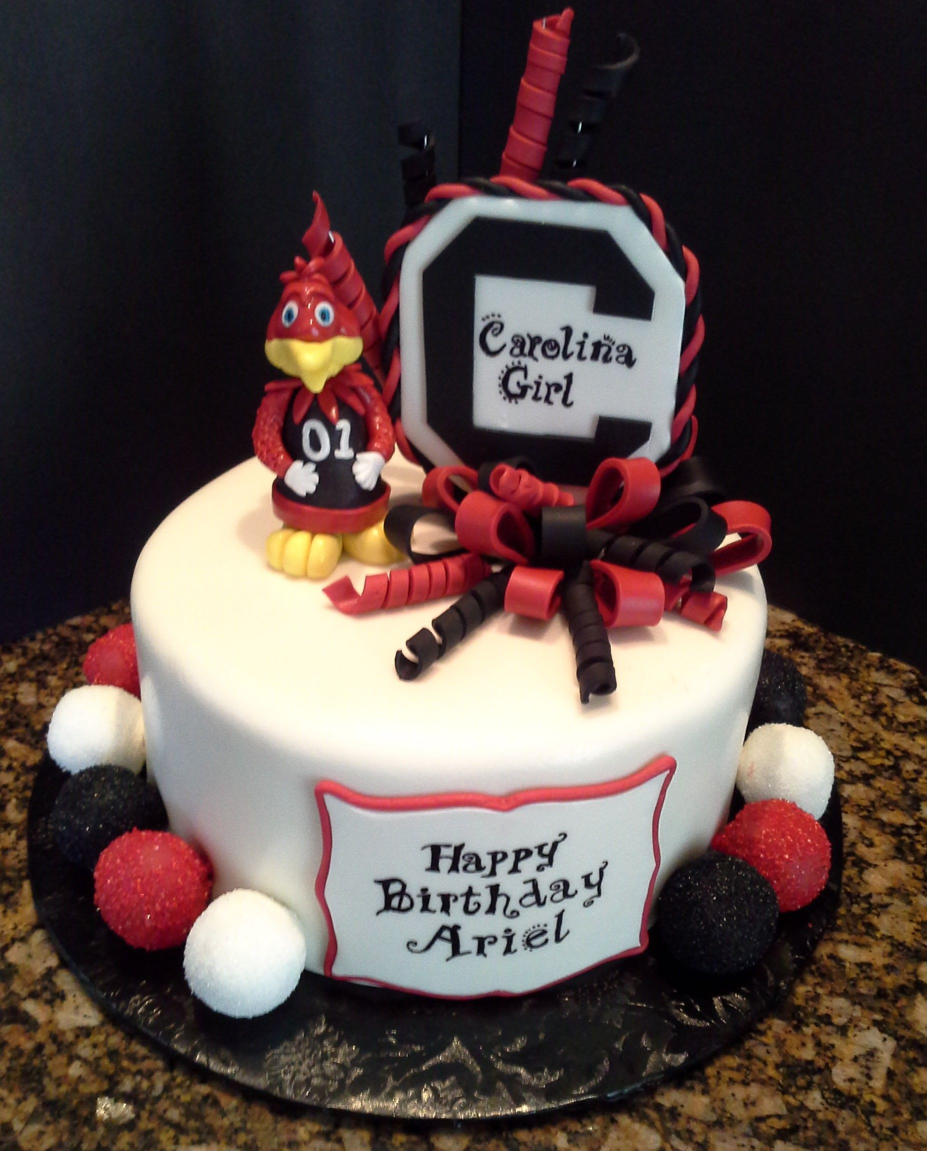 Carolina Gamecock Cake With Cake Pops Cocky Is A Cake Pop Cakes