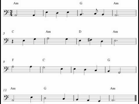 Free cello sheet music notes - Scarborough Fair | Sheet music notes. Cello sheet music