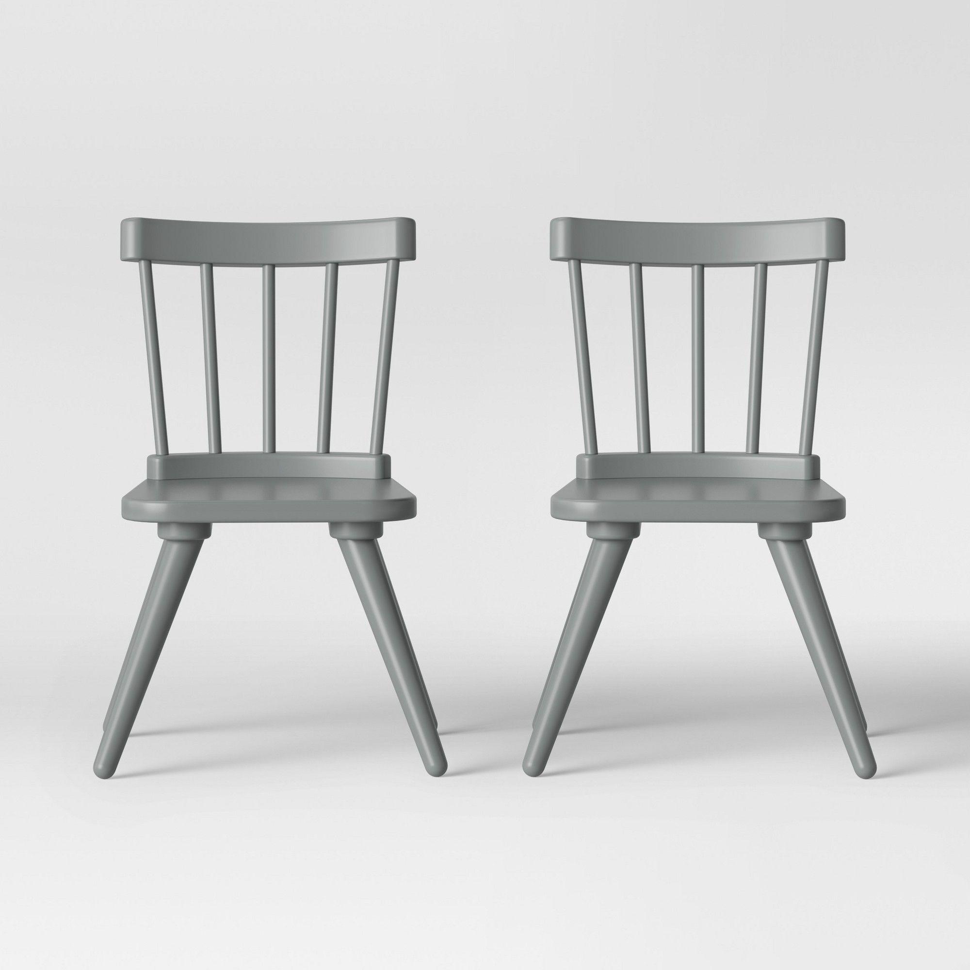 c4bec099921c Set of 2 Kids Windsor Wooden Chairs Gray - Pillowfort