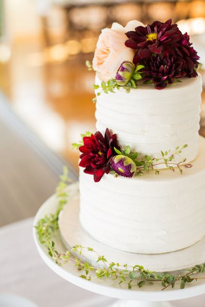 burgundy wedding cake flowers chic massachusetts pier wedding wedding cakes 12243