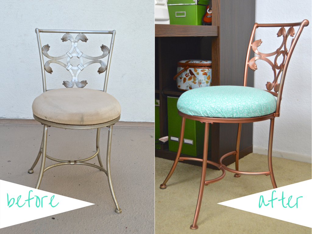 Diy Thrifted Vanity Chair Makeover Chair Makeover Vanities And
