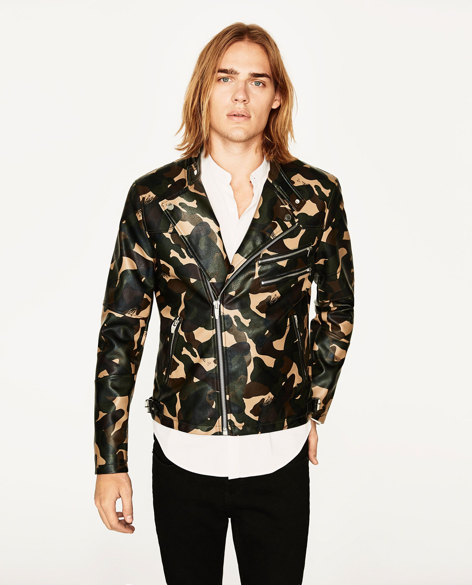 Image 1 of CAMOUFLAGE BIKER JACKET from Zara Fashionable