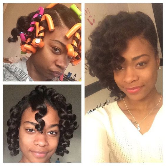 Photo Taken By Curlsbydy On Instagram Pinned Via The Instapin Ios App How To Use Flexi Rods On Nat Natural Hair Styles Relaxed Hair Natural Hair Inspiration