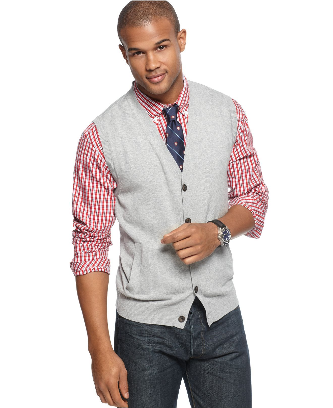 Grey Sweater vest | Summer Wedding Ideas | Pinterest