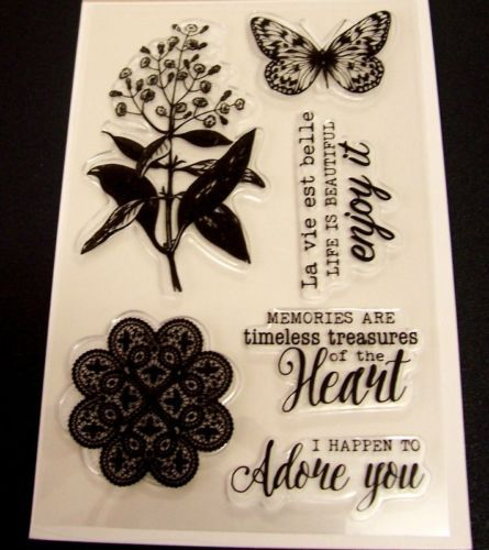 TIMELESS-MEMORIES-Pack-of-6-Clear-Stamps-for-Cardmaking-Scrapbooking-Stamping