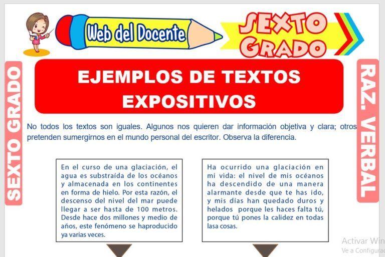 Razonamiento Verbal Sexto Grado De Primaria 29 Fichas Ejemplo De Texto Expositivo Sexto Grado Razonamiento Verbal
