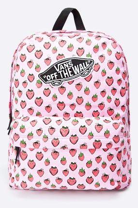 vans plecak w truskawki