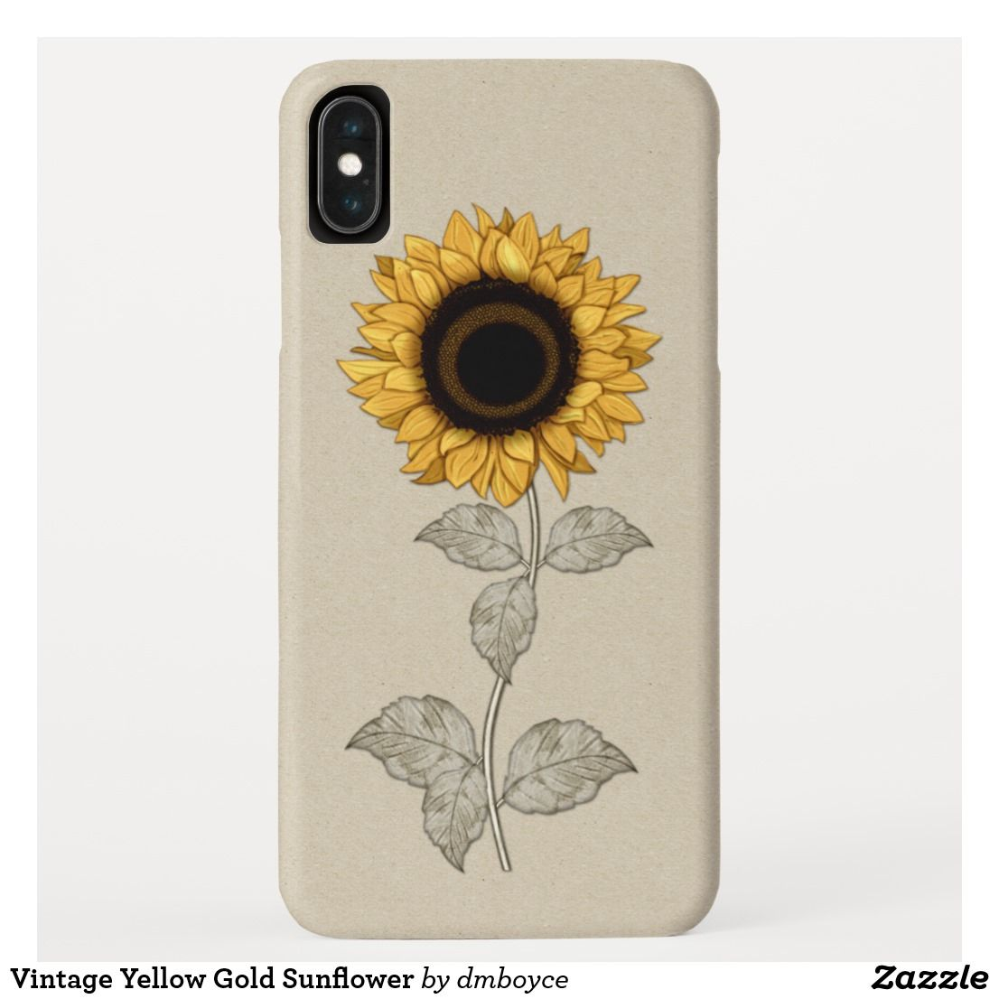Vintage Yellow Gold Sunflower Case Mate Iphone Case Zazzle Com In