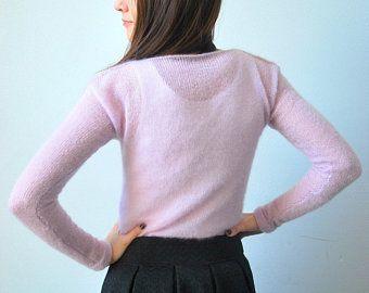 Licht Roze Trui.Licht Roze Sweater Trui Zachte Breien Trui Roze Trui Breien Brei