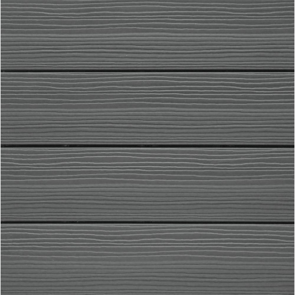 NewTechWood Composite Deck Tile Kit in Gray Color (10 Tiles/Case ...