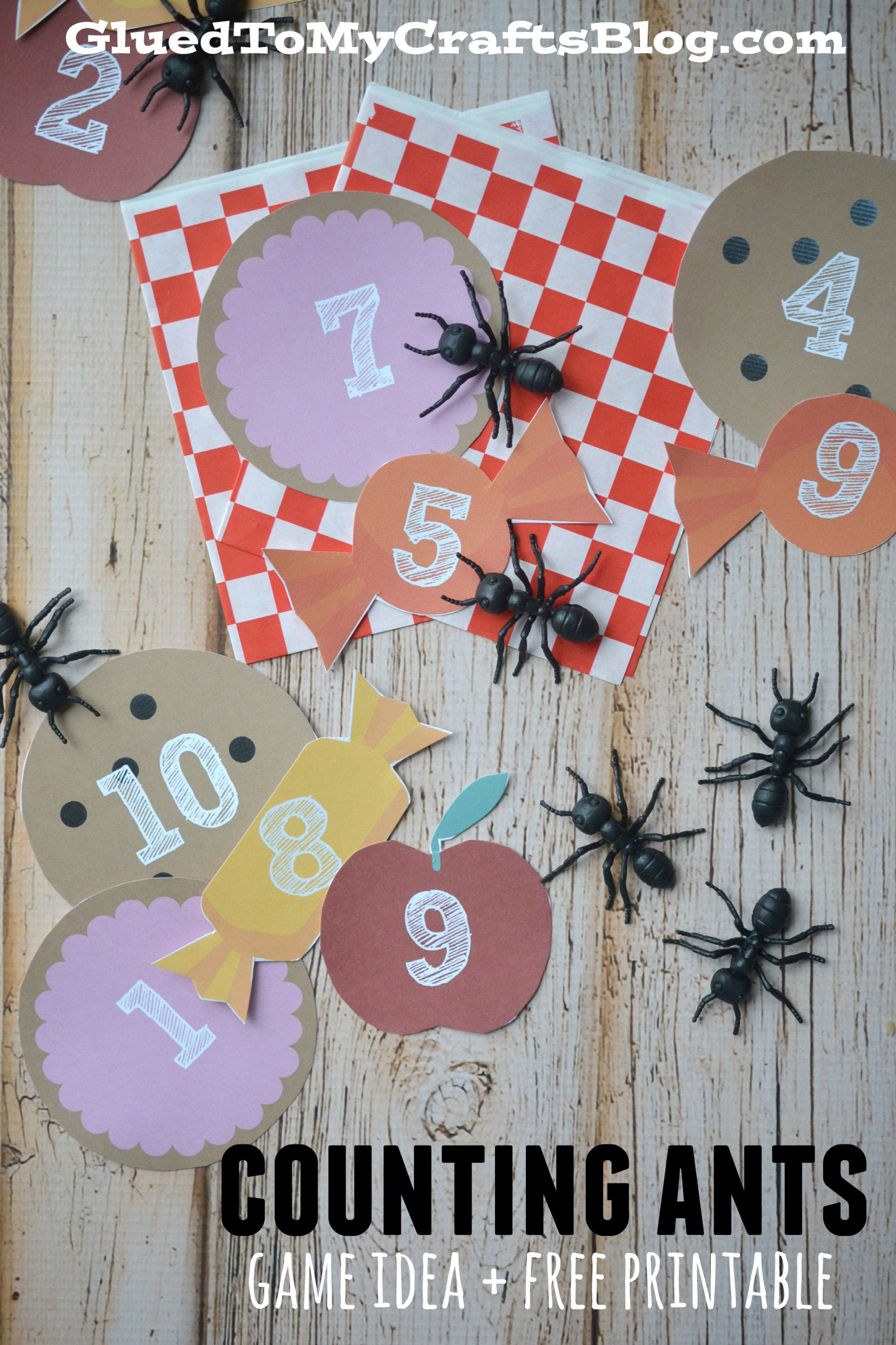 Counting Ants Game For Toddlers