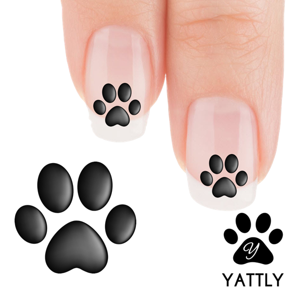 Shadow Paw Print Nail Art Decals (Now! 50% more FREE) | Fur babies ...