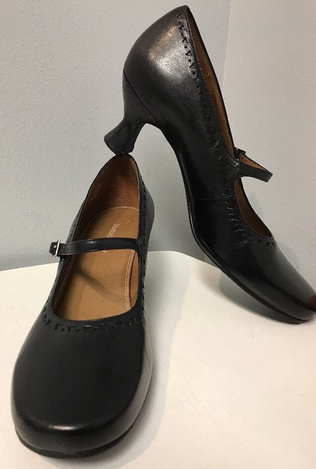 35080eee1 Naturalizer Black Leather Mary Jane French Heels Pumps Shoes Women's Size 9  N | eBay