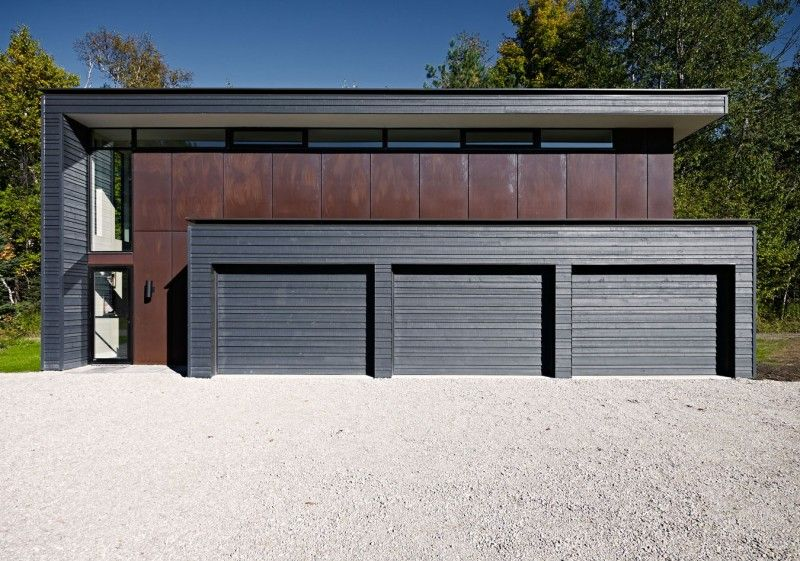 Modern detached garage modern detached garage view for Garage designs canada