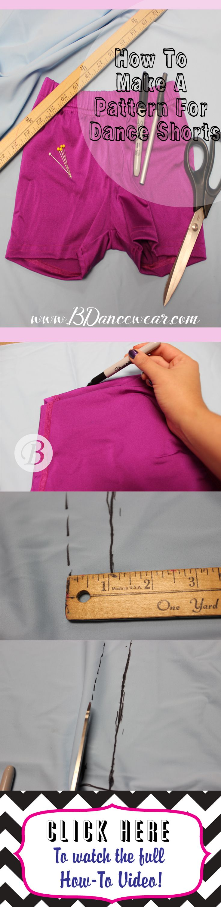How to Make a Pattern for Dance Shorts | DIY Dance Costume How To\'s ...