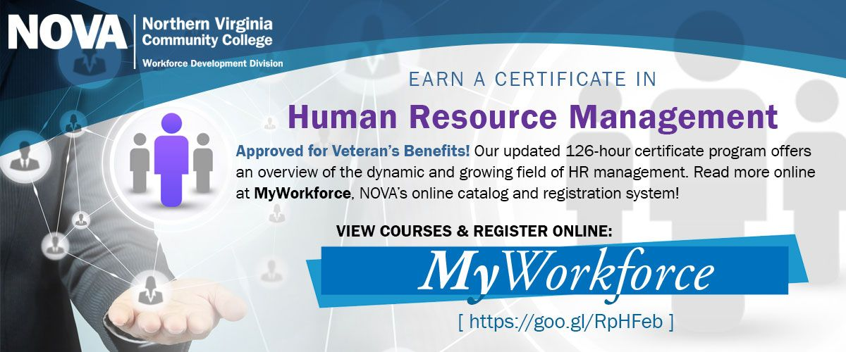 Nova Workforce Development Division Hr Management Certificate