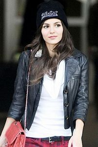 Replica of womens leather jacket.Victoria Justice wear a leather jacket in shopping mall #VICORIA-JUSTICE  http://www.e-leatherjackets.com/288/replica-of-womens-leather-jacketvictoria-justice-wear-a-leather-jacket-in-shopping-mall