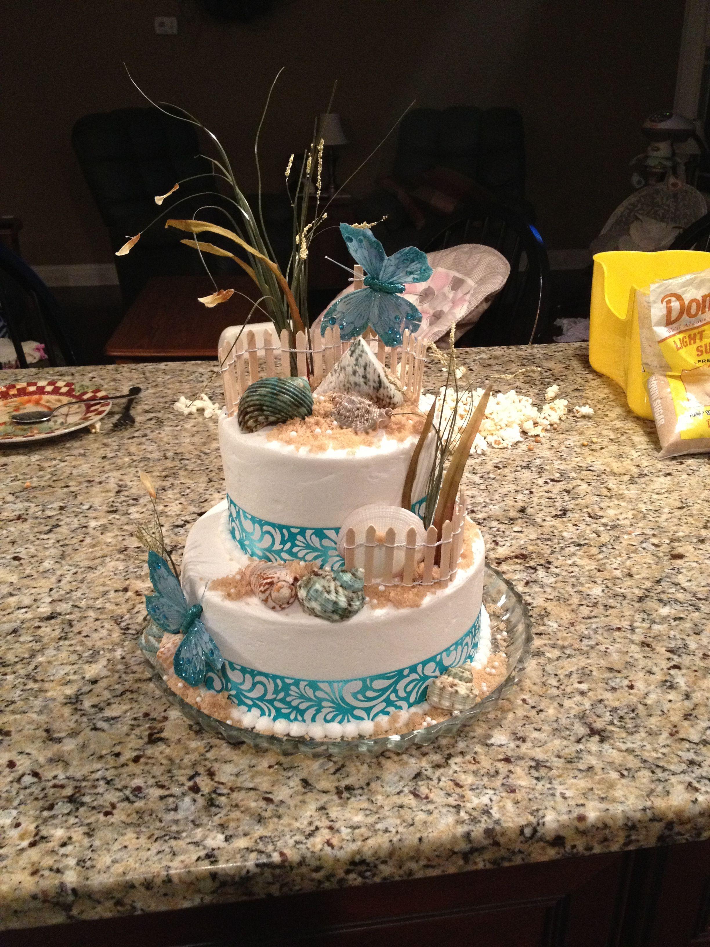 Elegant beach wedding cake beach wedding cake beach