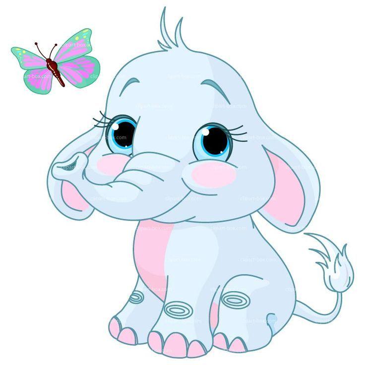 baby elephant drawings