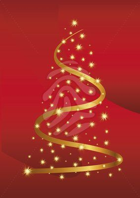 Gold Christmas Tree On Red Background Clipart 84667538 Christmas Clipart Gold Christmas Tree Clip Art