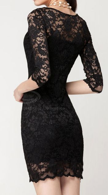 Black Lace Dress.  dresslily.com