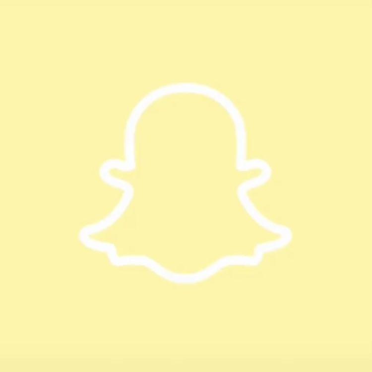 Ios14 Aesthetic Yellow Snapchat App Icon In 2020 Cute App Yellow Aesthetic App Logo