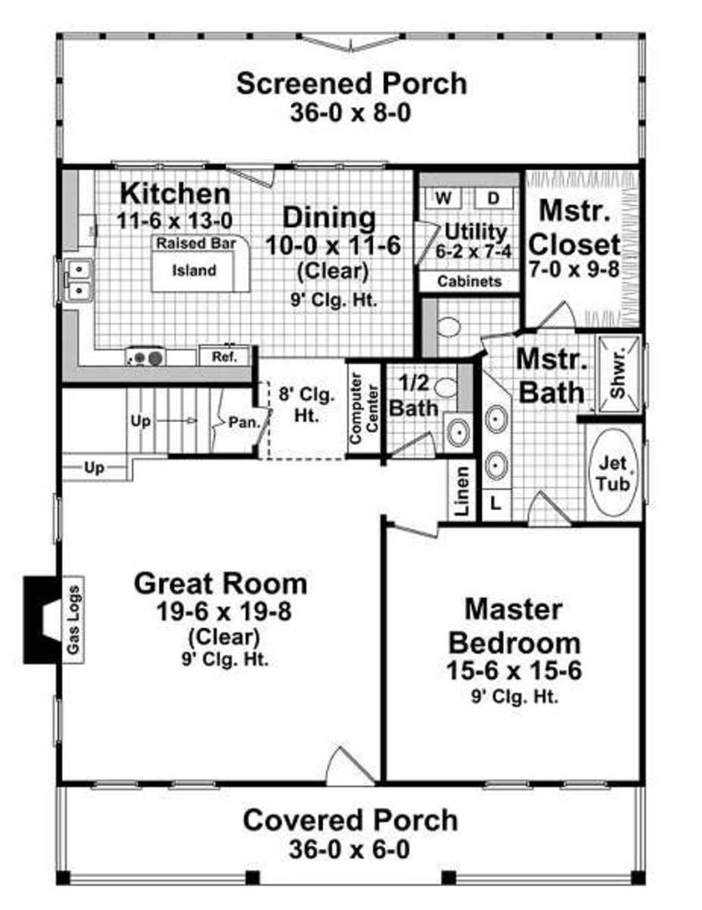 Farmhouse Style House Plan - 3 Beds 2.50 Baths 2404 Sq/Ft Plan #21 ...