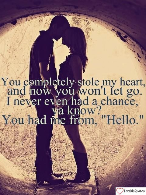 "Had Me From ""Hello"" #love #quote"