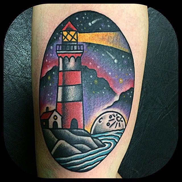 Lighthouse American Traditional Tattoo: Pin By B Biek On Lighthouse Tattoos