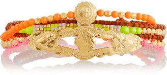 Chan Luu Set of three gold-plated beaded bracelets