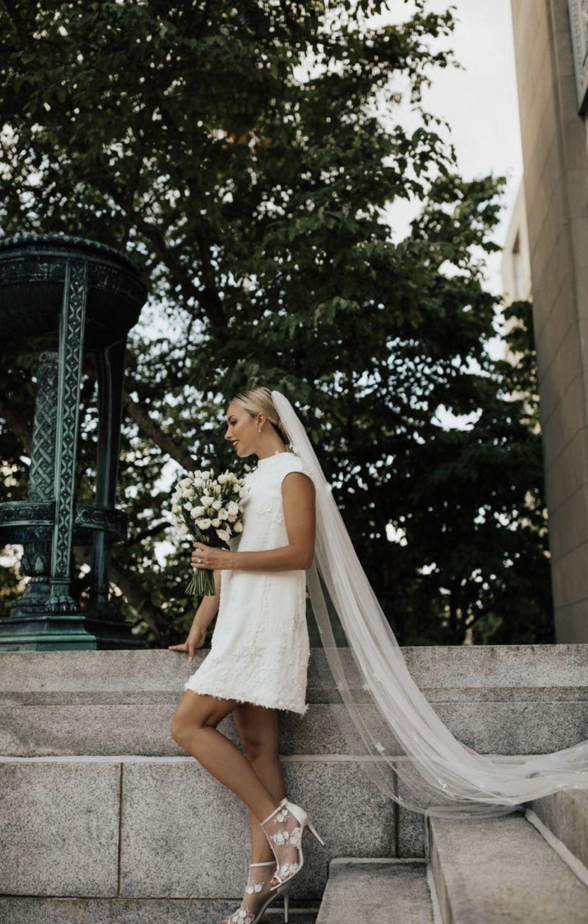 T H E B R I D E Short Wedding Dress Short Wedding Courthouse Wedding [ 1825 x 1162 Pixel ]