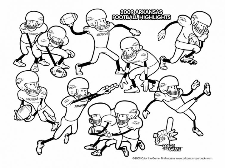 Football online coloring pages for children | Sports Coloring Pages ...