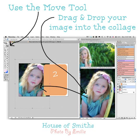 Easy Photoshop Collage Tutorial
