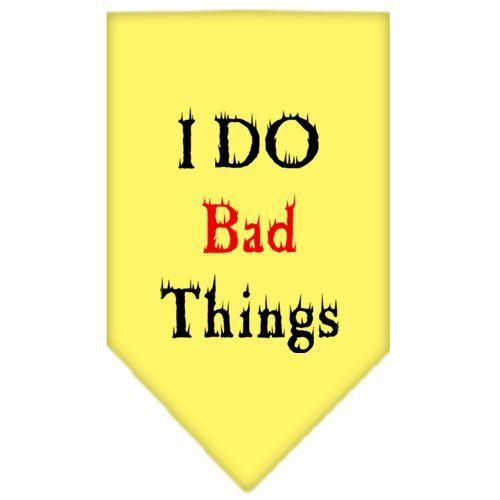 I Do Bad Things Screen Print Bandana Yellow Small