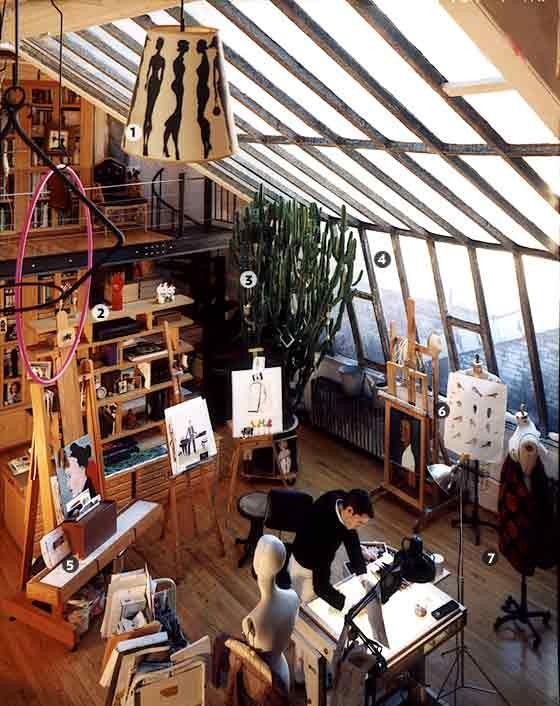 Artist Ruben Toledo and Fashion Designer Isabel Toledo's Atelier - A Great Room -- New York Magazine - Nymag