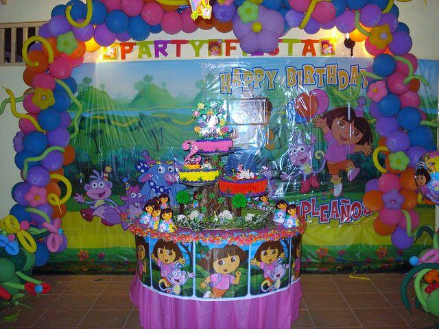Dora Birthday Party Decoration By Ƹ̵̡Ӝ̵̨̄Ʒ Yomi