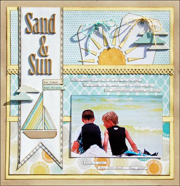 Summer scrapbooking page