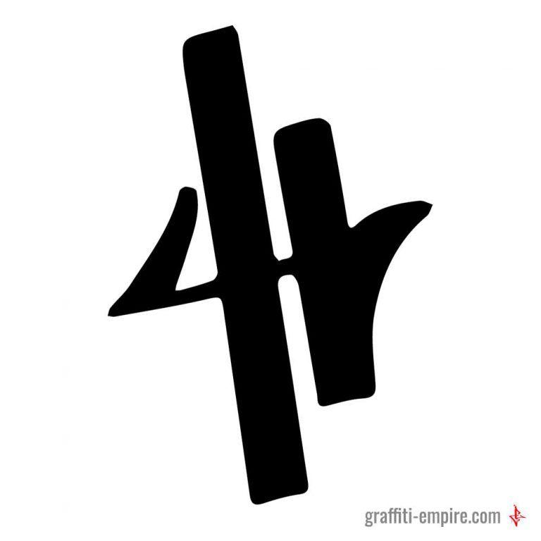 46c6294f59c5 ▷ Graffiti Letter H in 2019