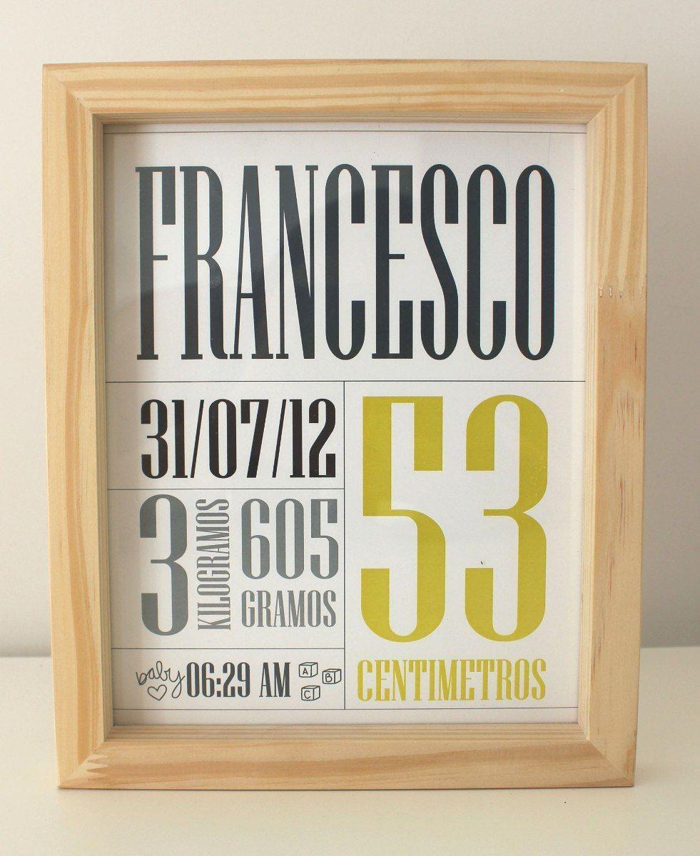 Cuadros madera de nacimiento personalizados b shower carteles nombres bebe pinterest - Cuadros fotos personalizados ...