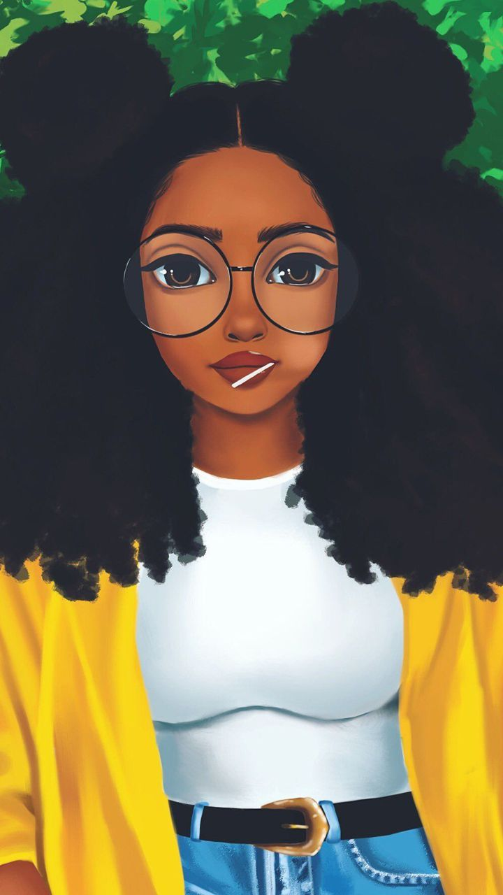 Cute Black Girls Wallpapers For Girls Android Wallpaper App Drawings Of Black Girls Black Girl Art Black Girl Cartoon