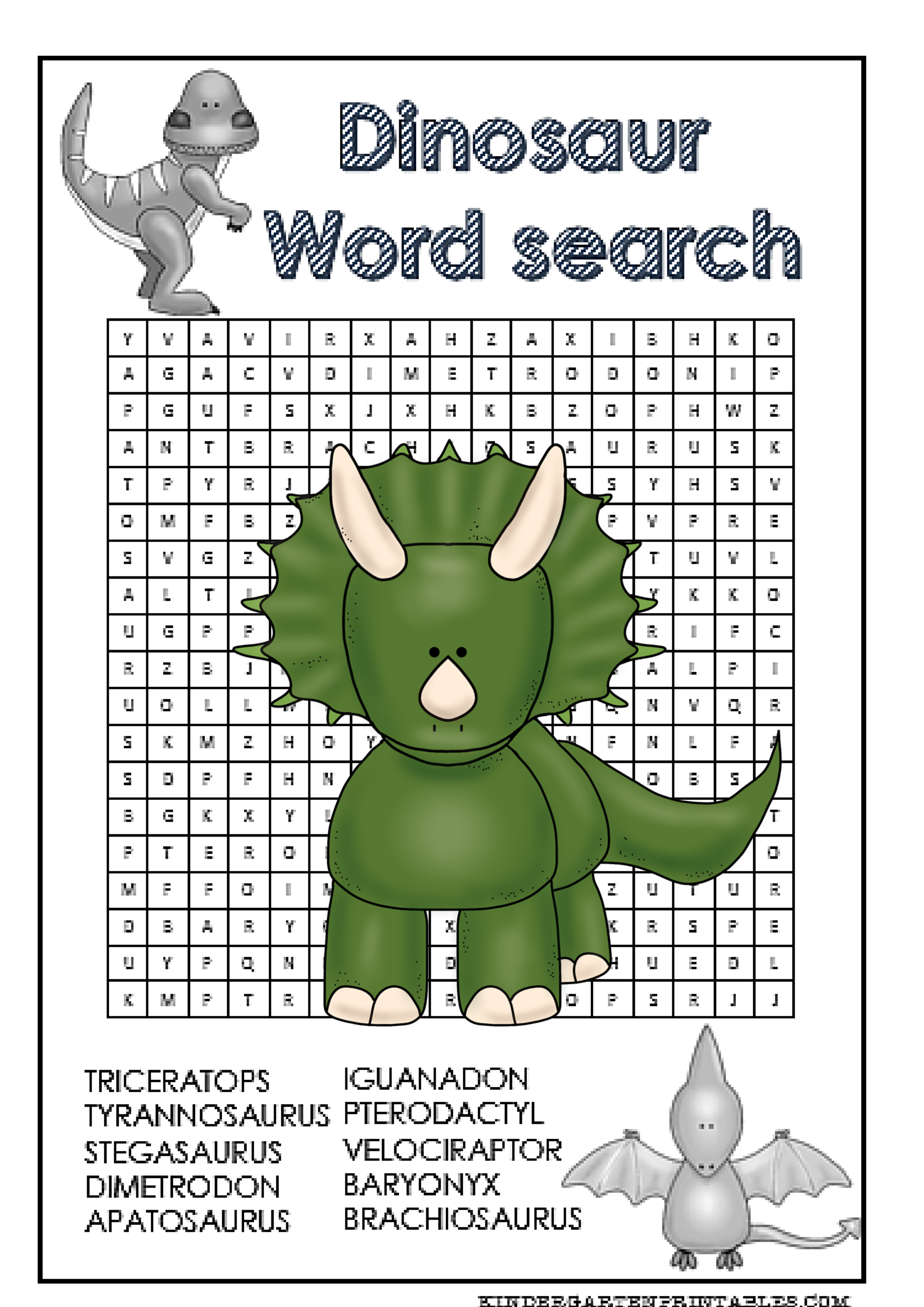 Dinosaur Word Search Free Printable | education | Pinterest | Word ...