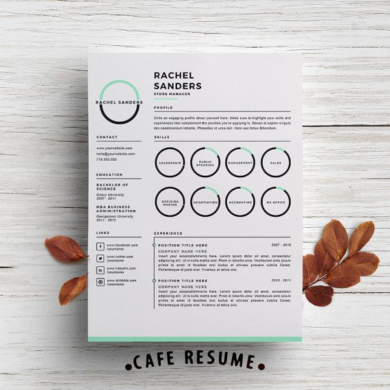 Creative Resume Template  Cover Letter Template For Word  Diy