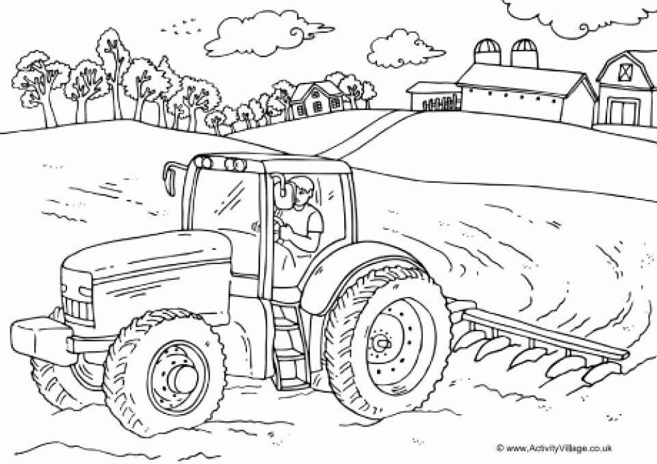 Free Printable Farm Coloring Pages Beautiful Get This Free Farm Coloring Pages Vqkc2 Tractor Coloring Pages Farm Coloring Pages Farm Animal Coloring Pages