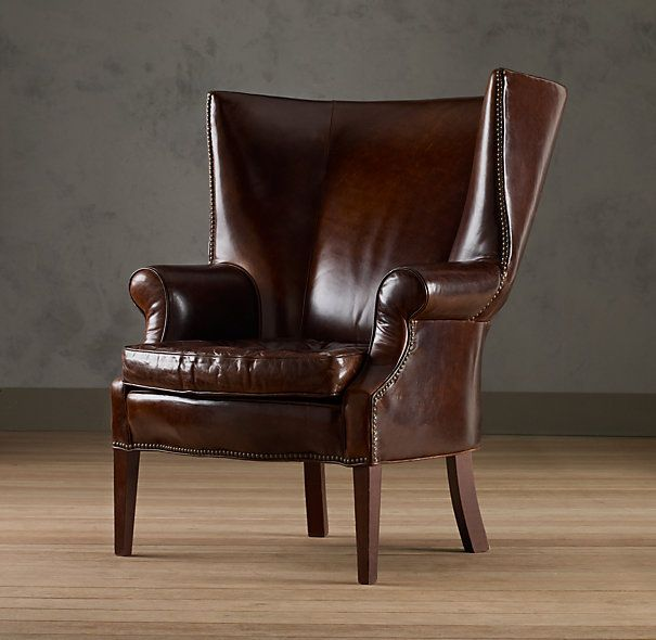 Drake Leather Wingback Chair Interior Decorating