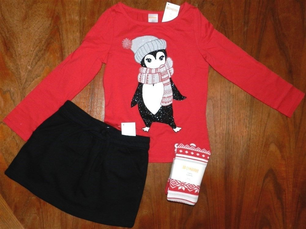 Skirt Outfit Red Gymboree 3pc Black School Girl size 5 New #Gymboree #SkirtOutfit3pc