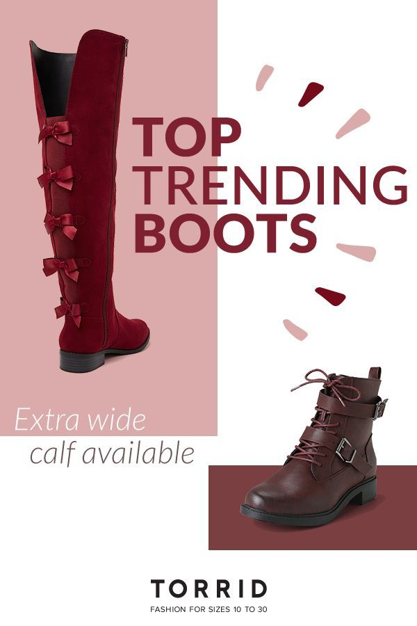 Pin on wide calf boots