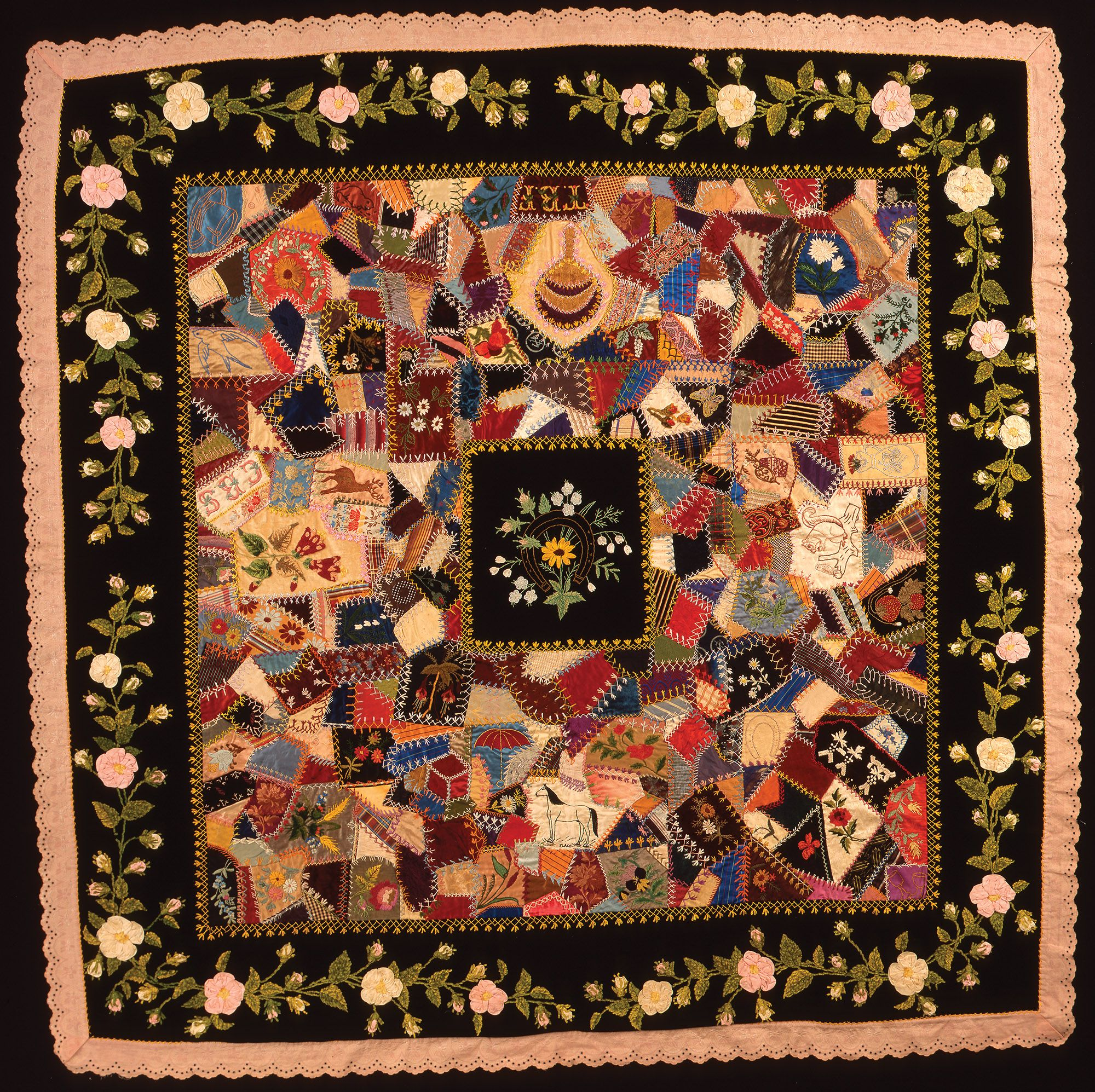 Crazy Quilts And Mad Women International Quilt Museum Lincoln Ne In 2020 Victorian Quilts Crazy Quilts Quilts