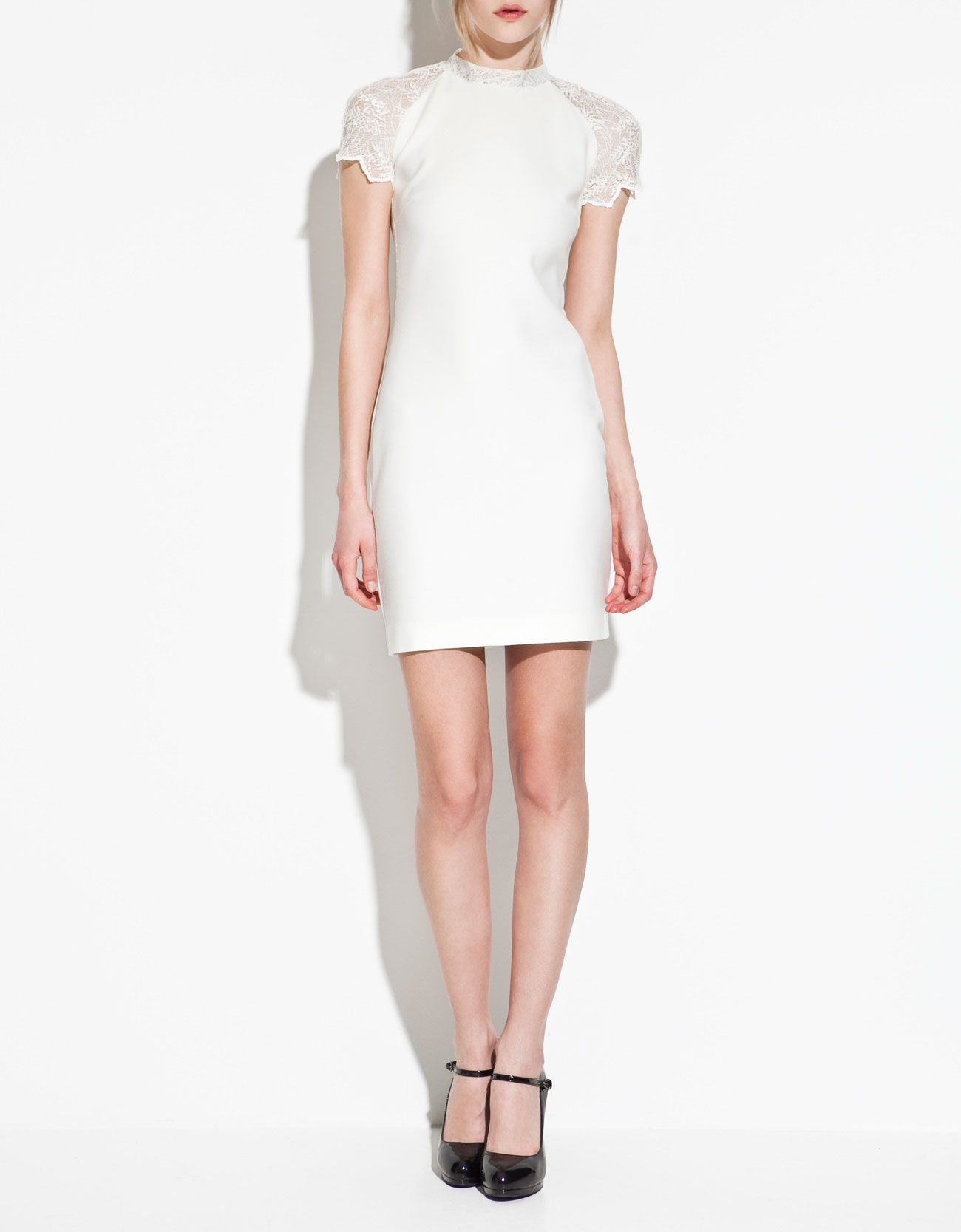 White dress at zara - Zara White Dress