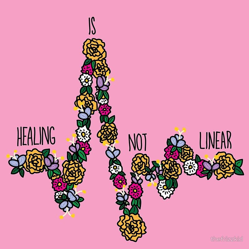 Healing Is Not Linear Poster by thefrizzkid