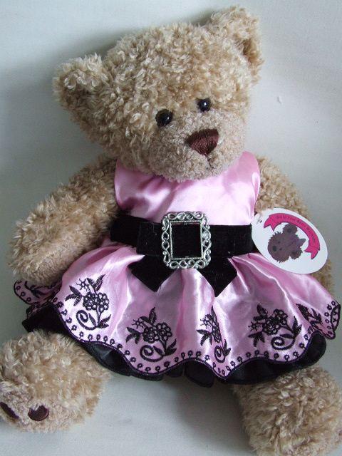 9aadf698021 Teddy Bear Clothes Pink Buckle Dress